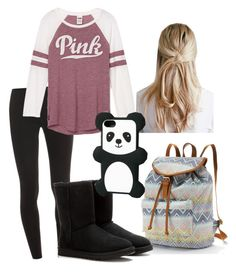"""""""Untitled #38"""" by minnie174 ❤ liked on Polyvore featuring Splendid, Candie's, UGG Australia and Bershka"""