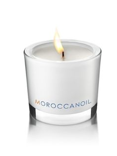Moroccanoil, fragranced candle Checking it out!