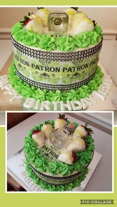 Another patron cake.mini patron with covered strawberries! Queens Birthday Cake, Cupcake Birthday Cake, Themed Birthday Cakes, Birthday Cake Decorating, Cupcake Cakes, Cupcakes, Baking Recipes, Dessert Recipes, Dessert Ideas