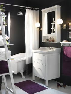 Ample storage and classic style come together with the elegant and practical HEMNES/ RÄTTVIKEN sink cabinet