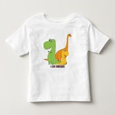 I Love Dinosaurs - Trio of Cute Dinos T-Shirt - click/tap to personalize and buy