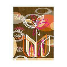 Spring has sprung with this floral motif. Spiky dahlia flowers combine with a mix of hot pink and orange tones in this abstract piece. The grainy wooden background gives a nod to mid-century design.  Find the Blooming Dahlia Wall Art, as seen in the Mid-Century In Bloom Collection at http://dotandbo.com/collections/mid-century-in-bloom?utm_source=pinterest&utm_medium=organic&db_sku=119038