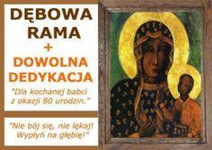 #Obraz w dębowej ramie #Madonna #Jasnogórska, idealny #prezent na Chrzciny, ślub, urodziny.  http://bit.ly/jasnogorska http://bit.ly/jasnogorska