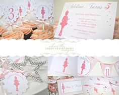 Ballet Party Package by TheGreenGrassGrows on Etsy, $105.00 Kc Ballet, Kids Party Themes, Party Ideas, Invite, Invitations, Ballerina Party, Party Package, Dance Studio, Baby Party
