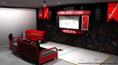 Dream NHL Hockey Pad Budweiser Arena Screen Zamboni Fridge Rec Room Dave Delisle davesgeekyhockey.com