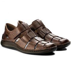 Sandale RIEKER - 05273-25 Brown - Sandale - Saboți și sandale - Bărbați - www.epantofi.ro Furla, Tommy Hilfiger, Calvin Klein, Brown, Shoes, Fashion, Sandals, Moda, Zapatos