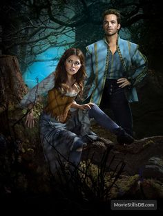Into the Woods promotional art with Chris Pine & Anna Kendrick