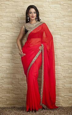 Indian-Designers-Beautiful-Bridal-Wedding-Saree-dress-Design-New-Fashionable-Sari-for-Girls-Women-2