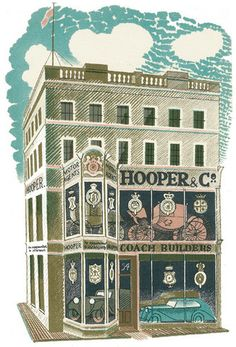 Coach Builders - lithograph by one of my favourite artists, Eric Ravilious