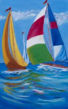 Sailboat Art, Sailboat Painting, Nautical Art, Nautical Prints, Sailboats, Crazy Wallpaper, Seascape Art, Pencil Art Drawings, Summer Art