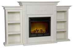 Tabitha Fireplace with Bookcases - Fireplace & Accessories - Home Accents - Home Decor | HomeDecorators.com