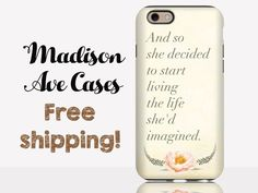 And So She Decided To Start Living The Life She'd Imagined Flower Pink Cute Girly Inspiration Quote Samsung iPhone 5s 4 4s Case 6 plus Tough