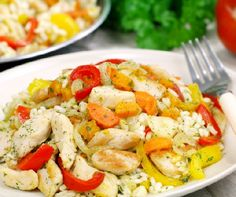 Recipe for chicken risotto. Easy to make, this Italian rice based dish can be done with or without chicken. Toddler Chicken Recipes, Healthy Chicken Recipes, Baby Food Recipes, Healthy Dinner Recipes, Cooking Recipes, Chicken Risotto, Risotto Recipes, Rice Dishes, Easy Meals