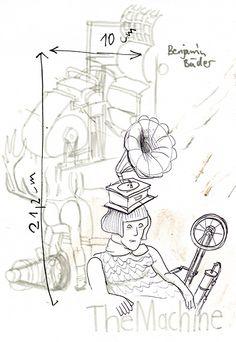 Die Maschine kann alles. Aber will sie auch? #Grotesk #machine #Maschine #Illustration
