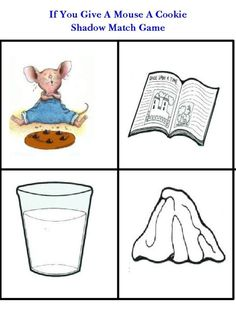 If You Give a Mouse a Cookie... free printable matching game.