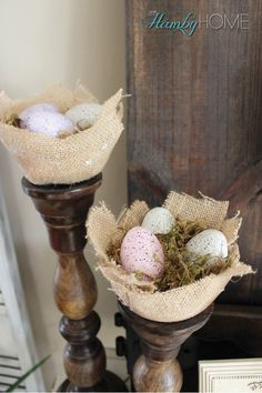 DIY Burlap Nests