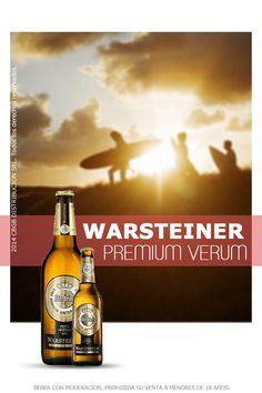 Warsteiner Premium Verum. Elaborada segun la ley alemana de pureza de la cerveza, Warsteiner se fabrica empleando: malta, lupulo, levadura y agua. Es ligera y refrescante. Nacida en el año 1753, en Warstein, un pueblecito en el corazon de Westfalia, la cerveza Warsteiner sigue conservando el mismo espiritu y calidad de sus inicios, sumandole mayor tecnologia actual para lograr un sabor de calidad superior.