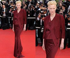 Tilda Swinton in Haider Ackermann - Cannes 2009