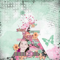 sassy but sweet  layout by Julie/Mother Bear using Sweet but Sassy Kit