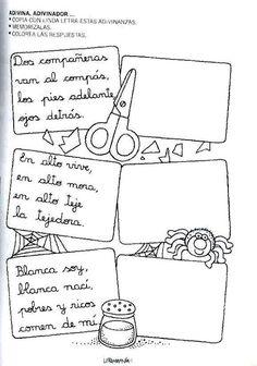 Mi primer etapa escolar : Fichas de apoyo para fortalecer la lectura y escritura Elementary Spanish, Spanish Lessons, English Class, Literacy, Homeschool, Notebook, Language, Bullet Journal, Letters