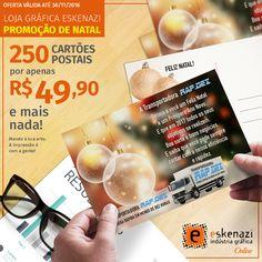 Neste Fim de Ano, mostre a importância de seus clientes para sua empresa com cartões postais personalizados! Use sua criatividade e aproveite essa promoção que é um presente! SÓ ATÉ 30/11/2016 #grafica, #gráfica, #graficaeskenazi, #graficaonline, #gráficas, #graficas, #impresso, #impressos, #lojagraficaeskenazi, #print, #cartãopostal, #cartaopostal, #cartõespostais, #cartoespostais, #postcard, #webtoprint, #promoção, #promocão, #promoçao, #promocao, #promoções, #promoçoes, #promocões