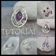 Wirework Jewelry Tutorials, Wire Tutorials, Jewelry Making Tutorials, Jewelry Crafts, Handmade Jewelry, Wire Jewelry Making, Design Tutorials, Design Ideas, Wire Earrings