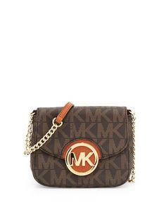 Small Fulton Logo Crossbody Bag, Brown by MICHAEL Michael Kors at Neiman Marcus.