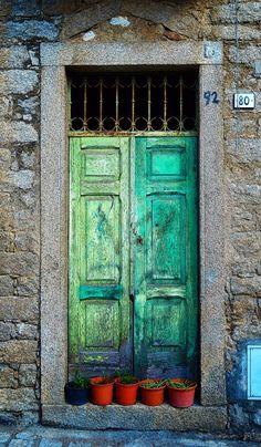 Gavoi, Sardinia, Italy by Gian Mario Caboni's Cool Doors, Unique Doors, The Doors, Windows And Doors, Portal, Entrance Doors, Doorway, Door Knockers, Door Knobs