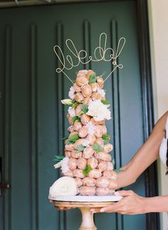 Croquembouche Maui wedding cake Maui's Angels Weddings / www.mauisangelsweddings.com