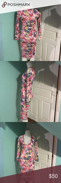 ASOS Bodycon Floral & Gem Dress sz6 ASOS Bodycon Floral & Gem Dress sz6. Excellent ASOS Dresses