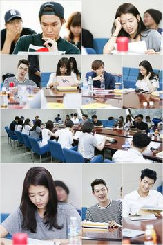 The Heirs going through a read-through of their scripts.