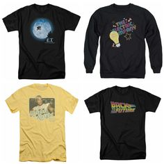 New arrivals! Get these brand new #retro inspired tees in the shop now! Each one is designed to look vintage. Some of your favorite movies and T.V. shows are available; ET, The Electric Company, Grease, Back to the Future, Dazed and Confused, The Bionic Woman, The Brady Bunch, all available now! #vintageinspired #retrotees #80s #70s #90s