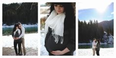 Winter Maternity Photos - Sugar Stripe