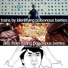 Lol haha funny pics / pictures / Hunger Games Humor / Fox Face / Peeta / Katniss