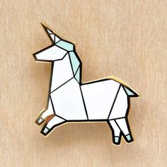 Image of Origami pins: Unicorn