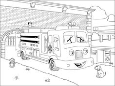 fireman coloring pages printable Fireman Coloring Pages For Kids