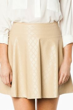Jeanette Faux Leather Skirt