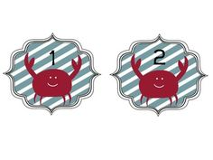 These cute crab numbers will enhance any nautical classroom theme. Use them for files, books, folders, or even calendars. ...