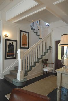Notice the gray stairs, very pretty Naples beach front home. Jordan Design Studio, Denver.