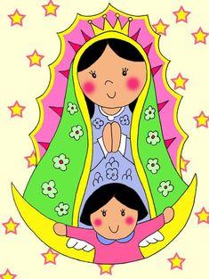 Virgencitas on Pinterest | Virgen De Guadalupe, Folk Art and Madonna