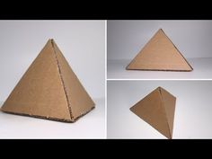 How To Make Easy Cardboard Pyramid - YouTube Triangle Template, Easy Arts And Crafts, Business Emails, Make It Simple, Christ, Projects To Try, Templates, Social Studies, Kid Stuff