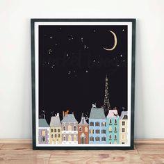 Cats in Paris Art Print Right Meow, Paris Art, Cool Designs, Original Paintings, Art Prints, Create, Illustration, Pattern, Gifts