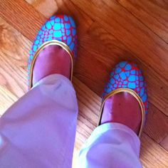 Tipsy Skipper's newest arrival! 'that's a croc' in aqua! Will be online next week! What do you think? tipsyskipper.com