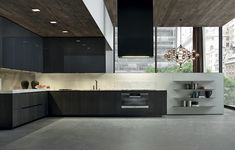 Modern design and custom kitchen furniture. ⭐ In our kitchen furniture store you will find your style: Italian, luxury or classic cuisine. Kitchen Interior, Modern Interior, Interior Architecture, Modern Contemporary Homes, Contemporary Dining Table, Küchen Design, House Design, Kitchen Dinning Room, Kitchen Wood