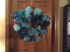 Christmas in Teal Wreath