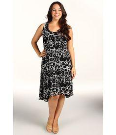 Karen Kane  Leopard Print Mesh Extended Hem Dress
