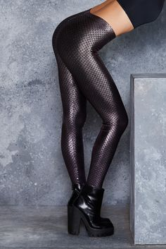 Mini Mermaid Pink Leggings - LIMITED ($80AUD) by BlackMilk Clothing