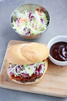 Pulled Port Burgers with Coleslaw // One Sweet Appetite