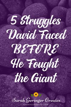 Learn about rock-solid faith from these five struggles David faced BEFORE he fought the giant. Strong Faith, Faith In God, Christian Living, Christian Faith, Christian Quotes, Insulting Words, One Year Bible, Hope In Jesus, Was Ist Pinterest