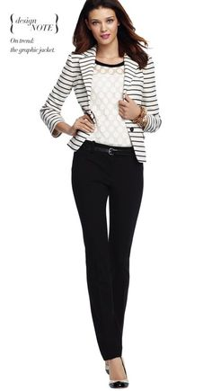 We love this striped blazer from Ann Taylor!